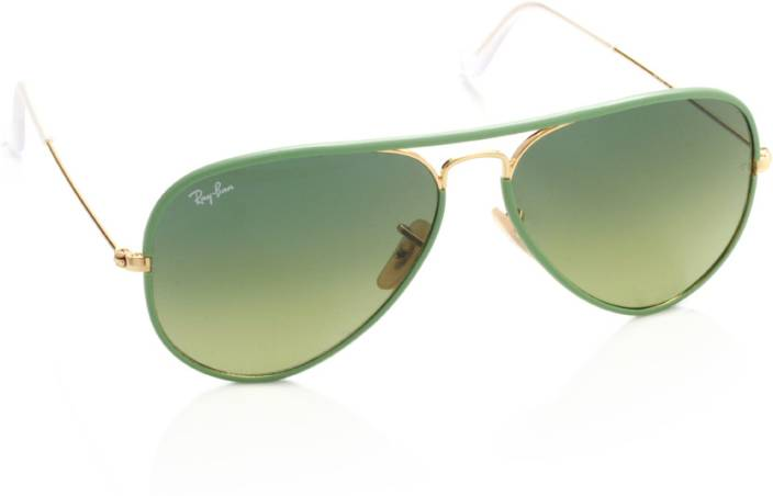ad48a84dc3 Buy Ray-Ban Aviator Sunglasses Green For Men Online   Best Prices in ...