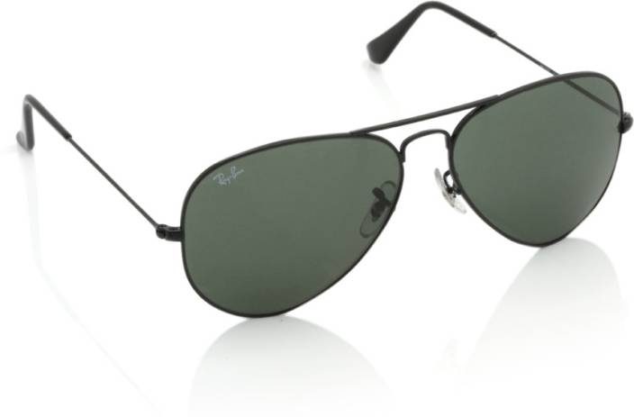 ac825d07f17 Buy Ray-Ban Aviator Sunglasses Green For Men Online   Best Prices in ...