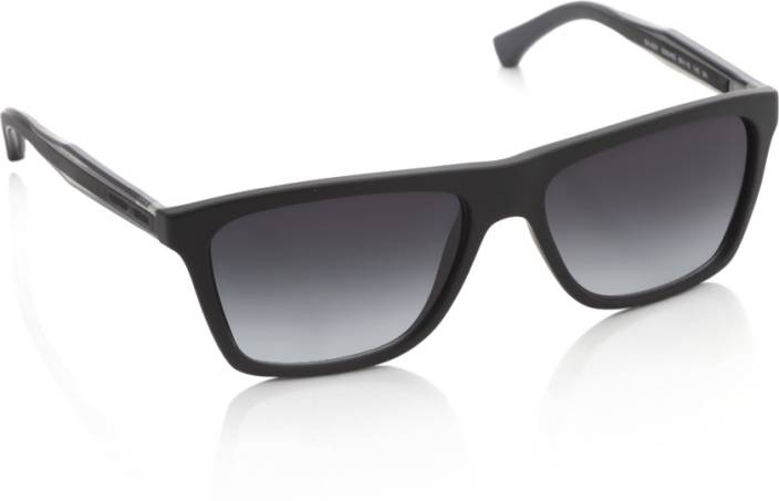 9f0849ab9f63 Buy Emporio Armani Wayfarer Sunglasses Black For Men Online   Best ...