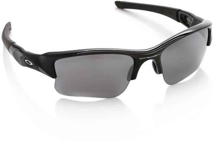 7c86a7e372f19 Buy Oakley FLAK JACKET XLJ Round Sunglass Grey For Men Online   Best ...