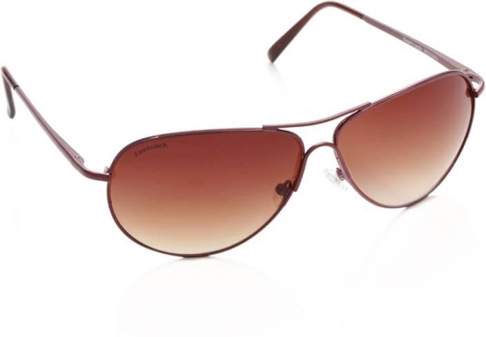 5145da68fe Buy Fastrack Aviator Sunglasses Brown For Men   Women Online   Best ...