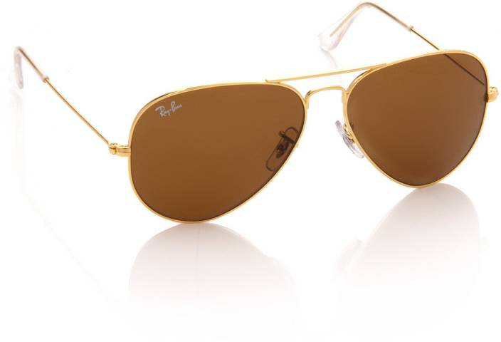 d40fa1e906 Buy Ray-Ban Aviator Sunglasses Brown For Men Online   Best Prices in ...