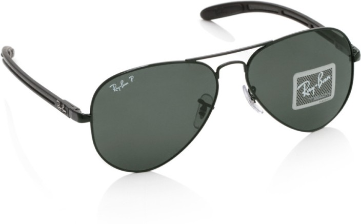 price ray ban aviator  Buy Ray-Ban 0RB8307 002/N5 Aviator Sunglasses Green For Men Online ...