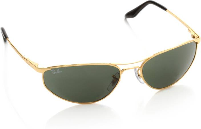 98d6e60114 Buy Ray-Ban Oval Sunglasses Green For Men Online   Best Prices in ...