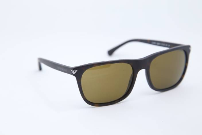 13d94553b3c8 Buy Emporio Armani Wayfarer Sunglasses Brown For Men   Women Online ...