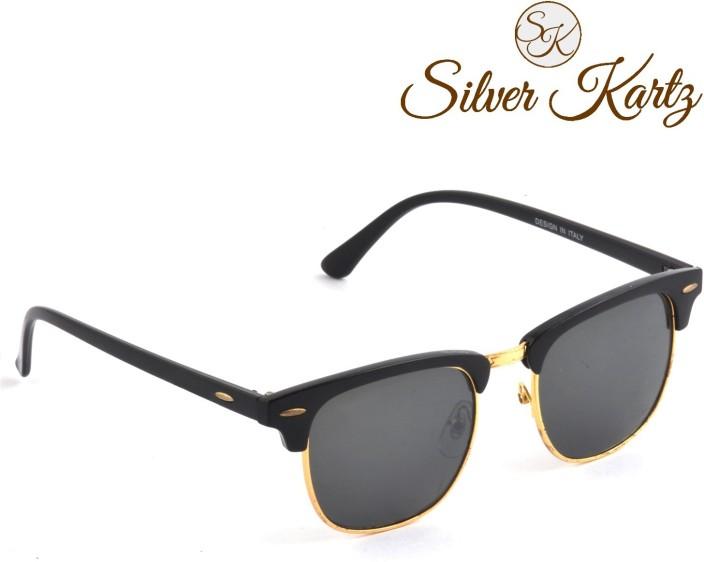 classic wayfarer  Buy Silver Kartz Clubmaster Gold Classic Wayfarer Sunglasses Black ...