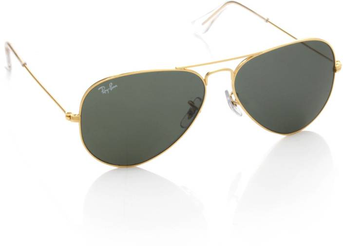 Buy Ray-Ban Aviator Sunglasses Green For Women Online   Best Prices ... c1d36302a1