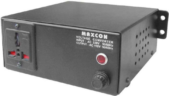 MX Voltage Converter For Electrical Appliances upto 500 Watts- Converts 110  Volts to 220 V 1 Socket Surge Protector