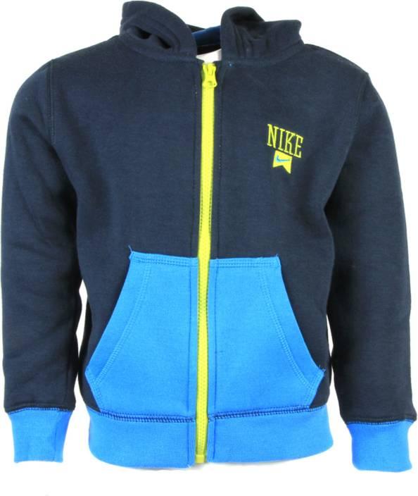 7095edfdcc Nike Kids Full Sleeve Solid Boys Sweatshirt - Buy Armory Navy-A21 ...