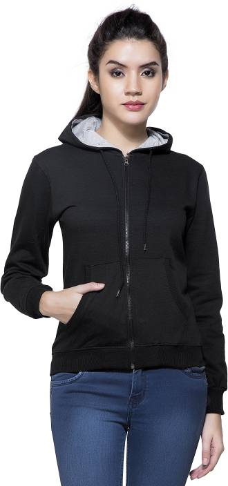 Maniac Full Sleeve Solid Women s Sweatshirt - Buy Black Maniac Full Sleeve  Solid Women s Sweatshirt Online at Best Prices in India  ad17f4a87e