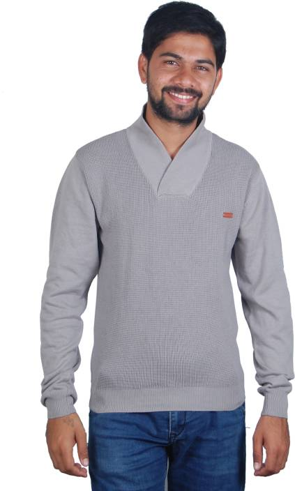 d8d295ce62f Rockstar Full Sleeve Solid Men s Sweatshirt - Buy Grey Rockstar Full Sleeve  Solid Men s Sweatshirt Online at Best Prices in India