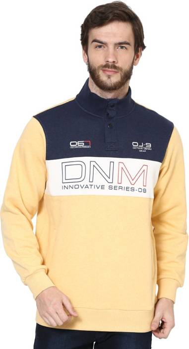 b29b16e474ebe Octave Full Sleeve Printed Men s Sweatshirt - Buy MANGO MELANGE Octave Full  Sleeve Printed Men s Sweatshirt Online at Best Prices in India
