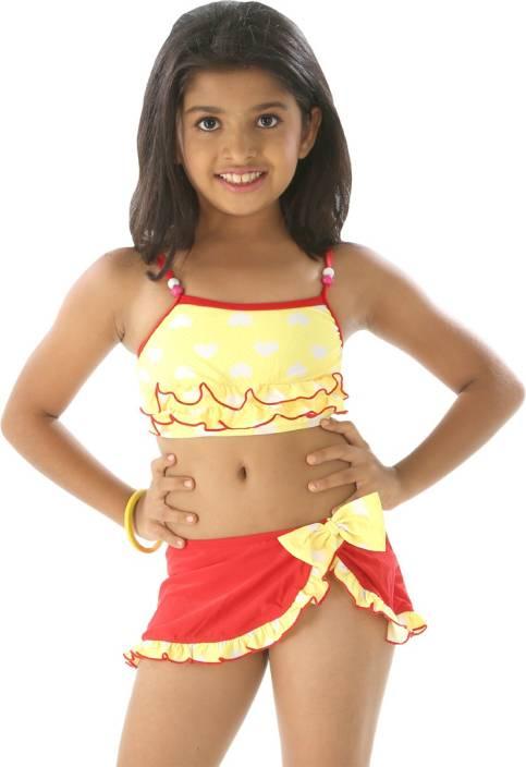 5c58bd221b Fascinating Printed Girls Swimsuit - Buy Multi Yellow Fascinating Printed  Girls Swimsuit Online at Best Prices in India | Flipkart.com