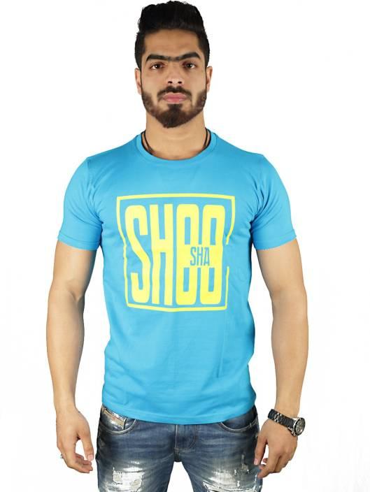 Vimanika Solid Men's Round Neck Blue T-Shirt