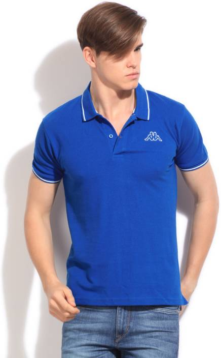 2aed32b53 Kappa Solid Men s Polo Neck Blue T-Shirt - Buy DARK BLUE Kappa Solid Men s Polo  Neck Blue T-Shirt Online at Best Prices in India