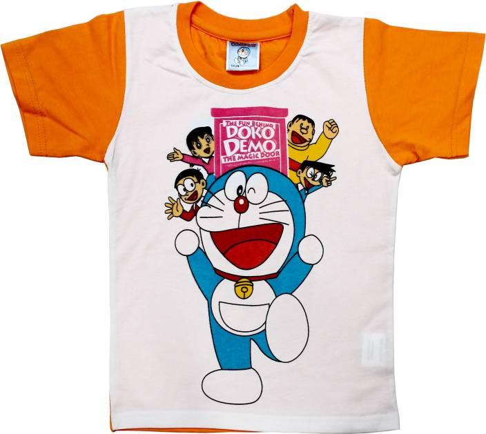 727e4c31 Doraemon Boys Self Design T Shirt Price in India - Buy Doraemon Boys ...
