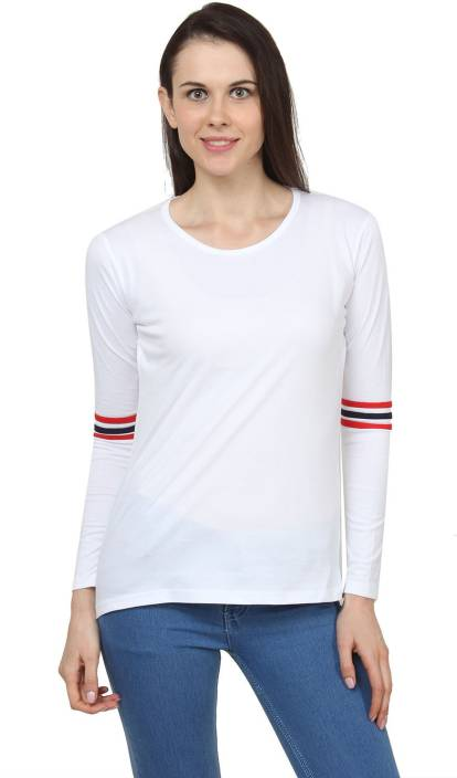 9b4db37823095a American Life Solid Women's Round Neck White, Red, Blue T-Shirt - Buy  White, Red, Navy Blue American Life Solid Women's Round Neck White, Red,  Blue T-Shirt ...