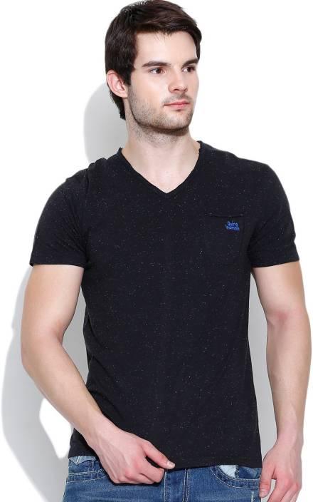 45136b6ea8f9 Being Human Printed Men's V-neck Black T-Shirt - Buy Black Being Human  Printed Men's V-neck Black T-Shirt Online at Best Prices in India |  Flipkart.com