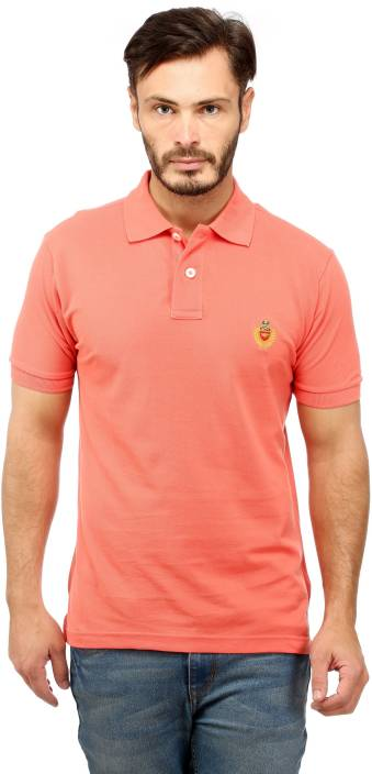 fb7027dc74a Red Tape Solid Men s Polo Neck Orange T-Shirt - Buy Coral Red Tape Solid  Men s Polo Neck Orange T-Shirt Online at Best Prices in India