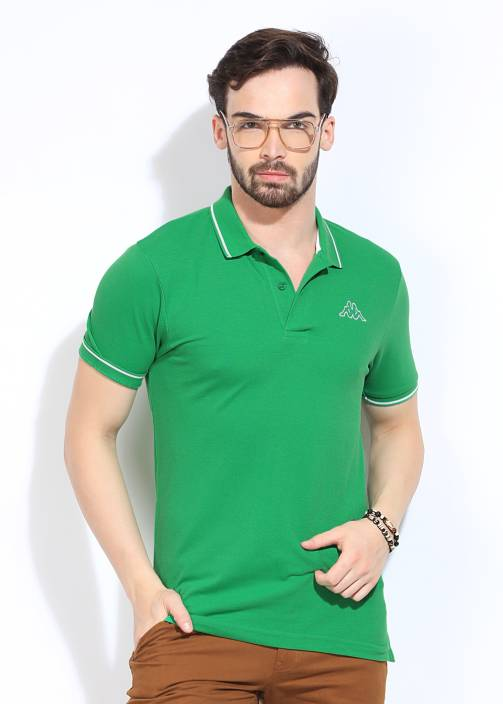 140a1523c2d9 Kappa Solid Men s Polo Neck Green T-Shirt - Buy Green Kappa Solid Men s  Polo Neck Green T-Shirt Online at Best Prices in India