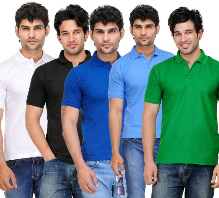 TSX Solid Men's Polo Neck Multicolor T-Shirt