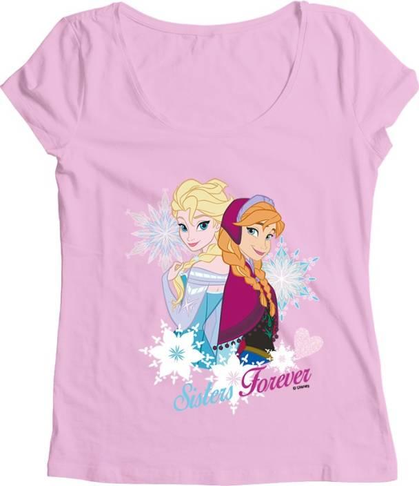 73f48bef5 Disney Frozen Girls Printed T Shirt Price in India - Buy Disney ...
