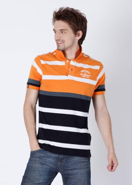 Numero Uno Striped Men s Polo Neck White 67e787500