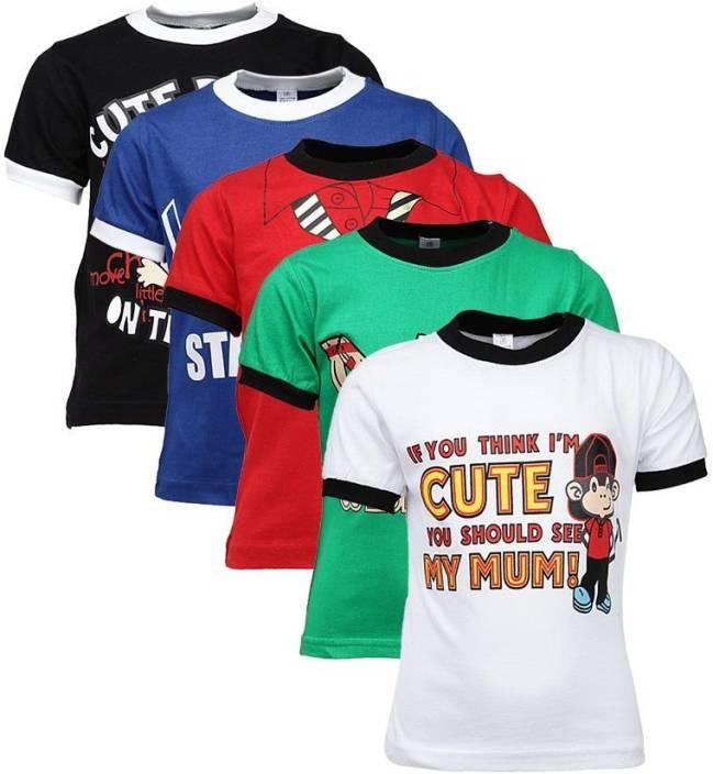 Gkidz Boys Printed Cotton T Shirt