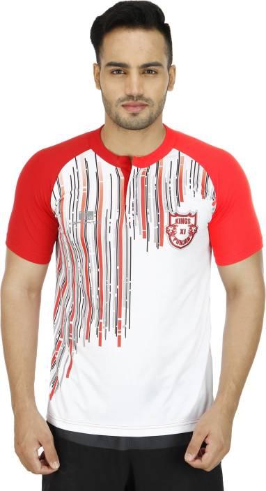 Kings XI Punjab Printed Men's Round Neck Multicolor T-Shirt