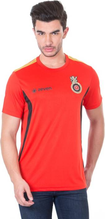Royal Challengers Bangalore Solid Men's Round Neck Red T-Shirt