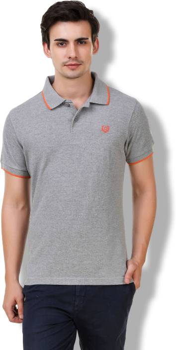 b9eb6bfe Denver Solid Men's Polo Neck Grey T-Shirt - Buy Grey Denver Solid Men's  Polo Neck Grey T-Shirt Online at Best Prices in India | Flipkart.com