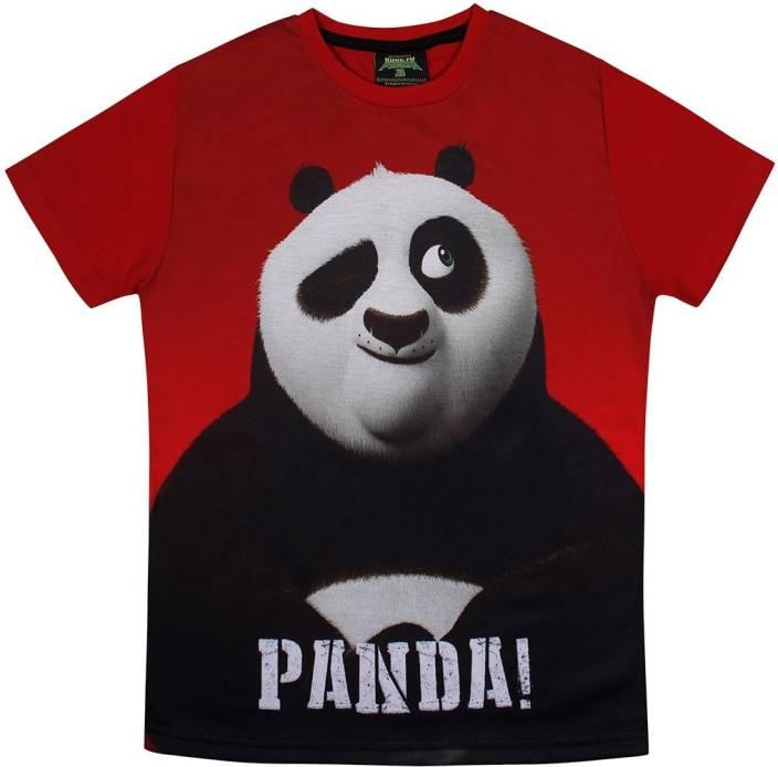 Kung Fu Panda Boys Printed Cotton T Shirt Price in India - Buy Kung