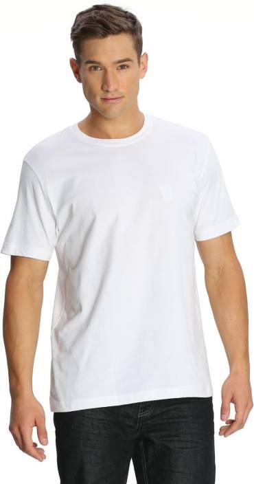 65205c21f76 Jockey Solid Men's Round Neck White T-Shirt - Buy White Jockey Solid ...