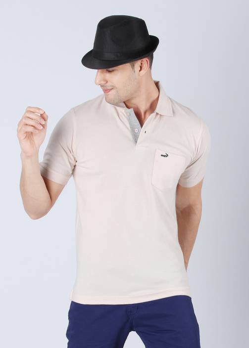 8a2a0a0a Crocodile Solid Men's Polo Neck Beige T-Shirt - Buy Biscuit Crocodile Solid  Men's Polo Neck Beige T-Shirt Online at Best Prices in India | Flipkart.com