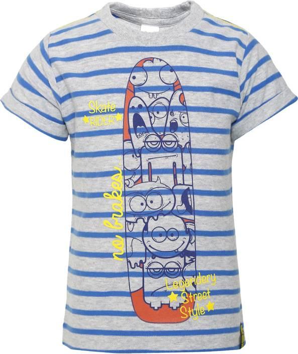 FS MINI KLUB Boys Striped, Printed Cotton T Shirt