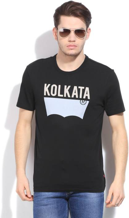 fa4d4817 Levi's Printed Men's Round Neck Black T-Shirt - Buy Blacks Levi's Printed  Men's Round Neck Black T-Shirt Online at Best Prices in India | Flipkart.com