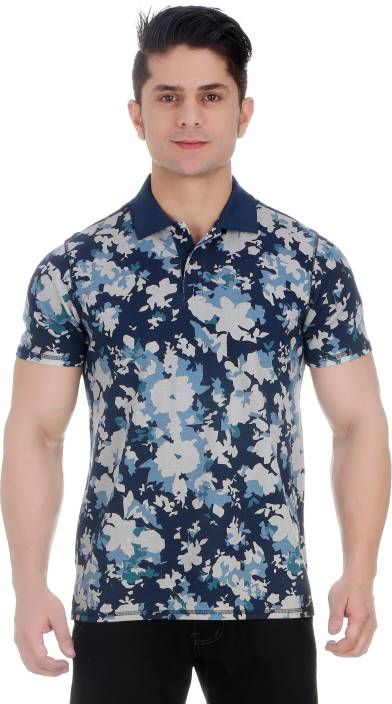 f85aa4f3 Girggit Floral Print Men Polo Neck Multicolor T-Shirt - Buy Green Girggit Floral  Print Men Polo Neck Multicolor T-Shirt Online at Best Prices in India ...
