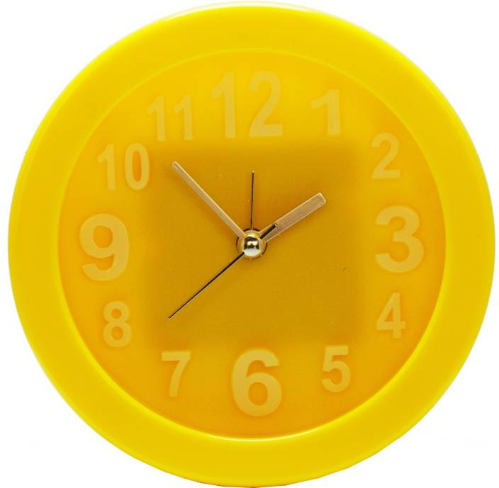 Design O Vista Analog Yellow Clock