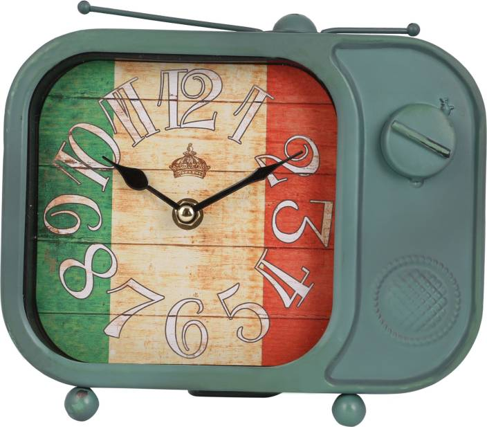 JB Collection Analog Green Clock