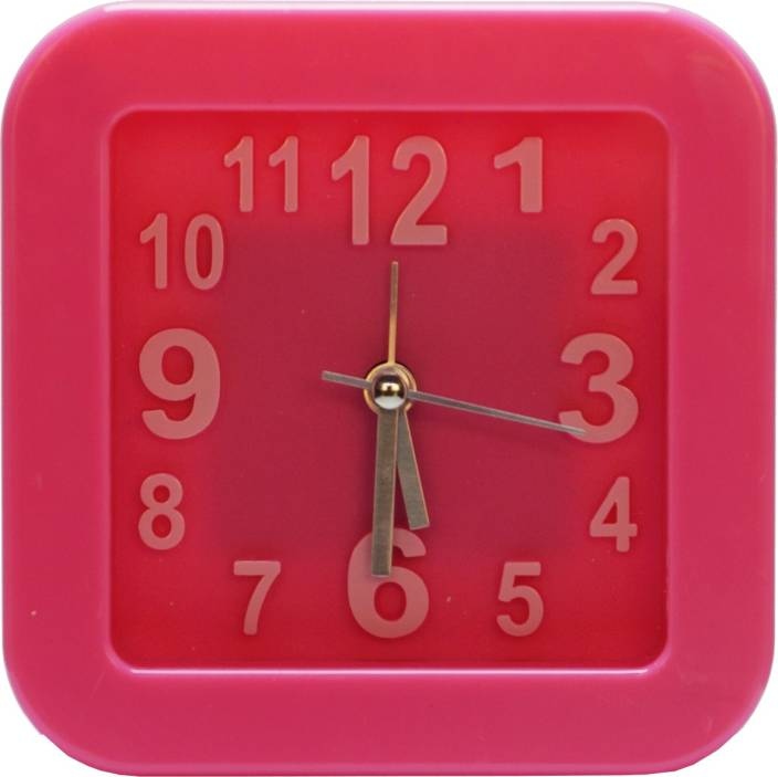 Design O Vista Analog Pink Clock