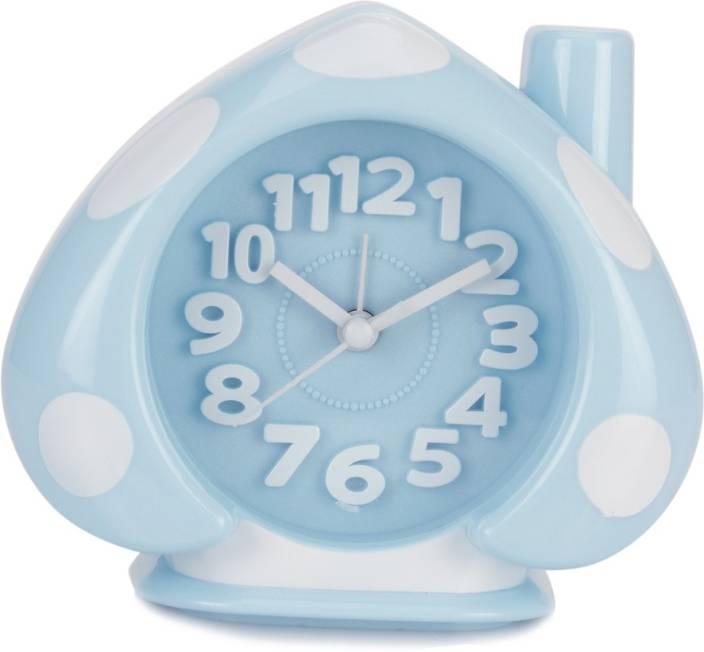 Design O Vista Analog White, Blue Clock