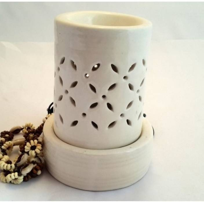 The Indian Handicraft Store White Cylinder Diffuser Table