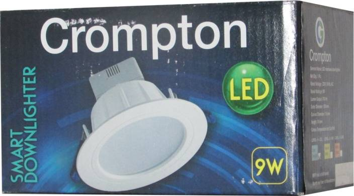 Crompton Led Downlighter 9w (Cool Daylight) - Pack Of 2 Night Lamp