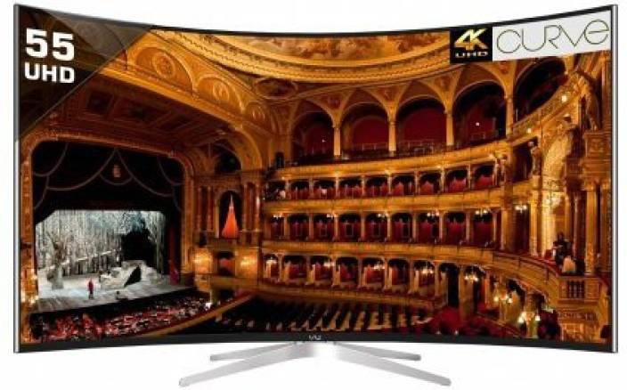 Vu 139cm (55 inch) Ultra HD (4K) Curved LED Smart TV