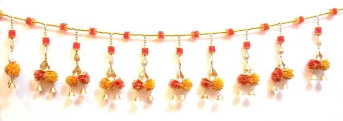 Ratna Door Decoration Flower Crystal Beads Bandhanwar Toran