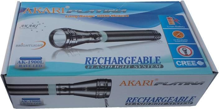 Akari Platina Rechargeable AK-1900L RAVE LED 1000 Meters Long Range Torches