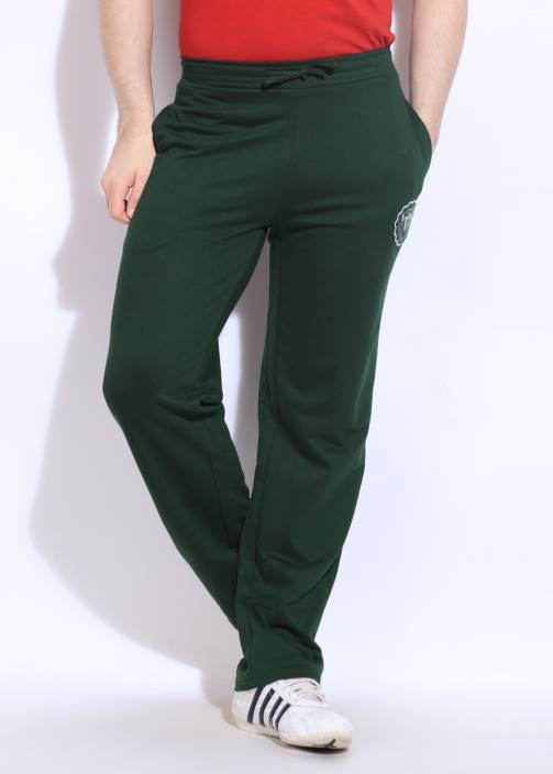5905dc307e63 Converse Solid Men s Green Track Pants - Buy HUNTER GREEN Converse ...