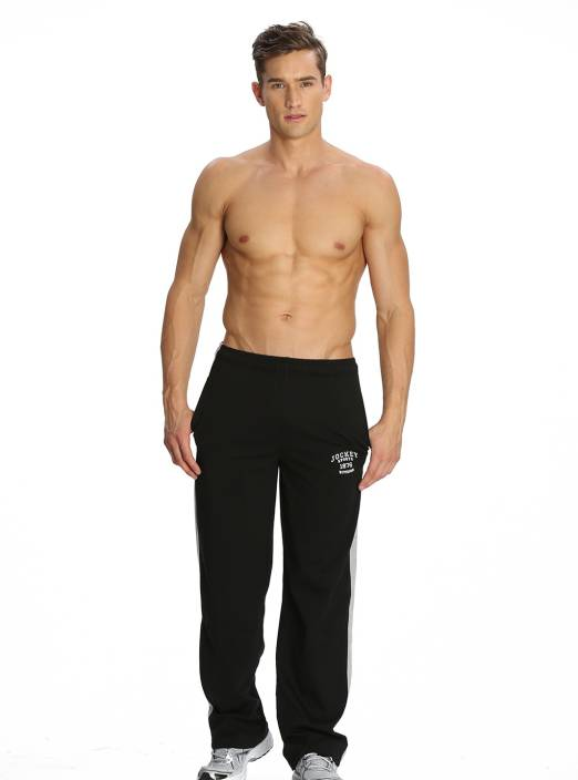 Jockey Solid Men's Black Track Pants