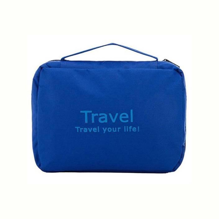 Swadec Cosmetic Toiletry Shaving Jewelry Hanging Bag Organizer - Blue Travel Toiletry Kit