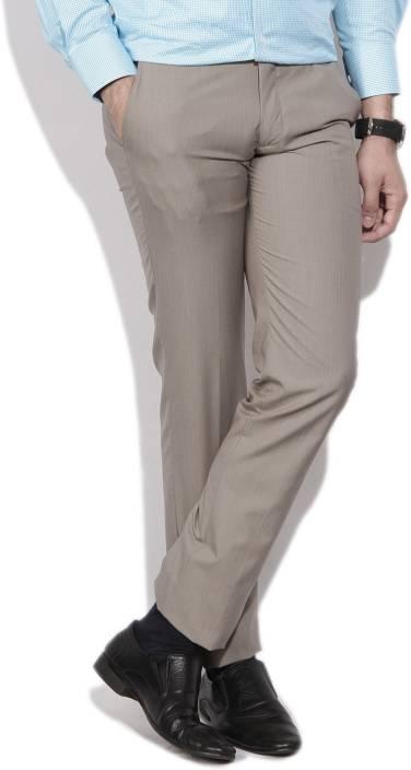 Louis Philippe Regular Fit Men's Grey Trousers